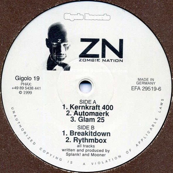 19 years ago today, on March 15th 1999, Kernkraft 400 was released on Gigolo Records. It's a long story and next year for the 20th birthday I promise I'll tell you all about it