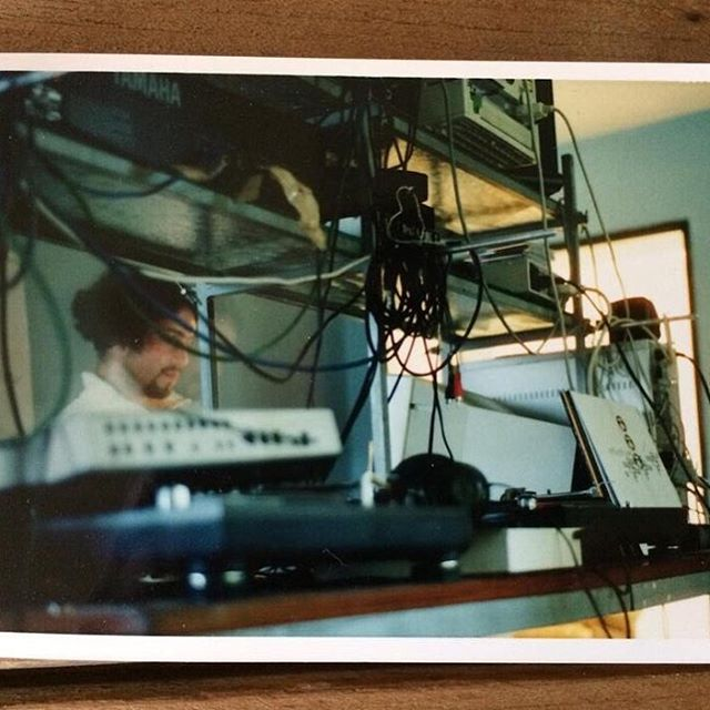 rare photo of my first studio at Munich Hackerbrücke around 1999 // by @ephi_kassner