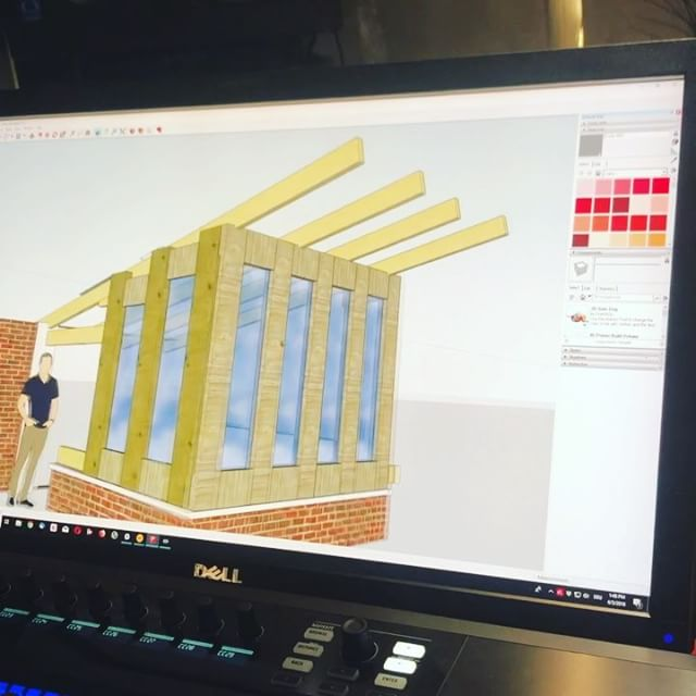 Planning a tiny wood cabin/ studio with Google Sketchup.