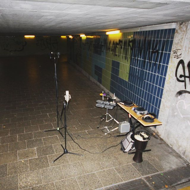 In 2008 I recorded percussion in this underpass in Munich to catch some natural reverb for my 'Zombielicious' Album