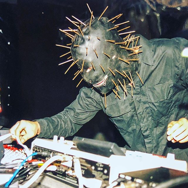 I always had this mask with me on shows in the early 00s. Airport security did not appreciate the 10cm nails