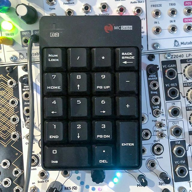 ready to hit record from all corners of my studio with this Bluetooth keypad
