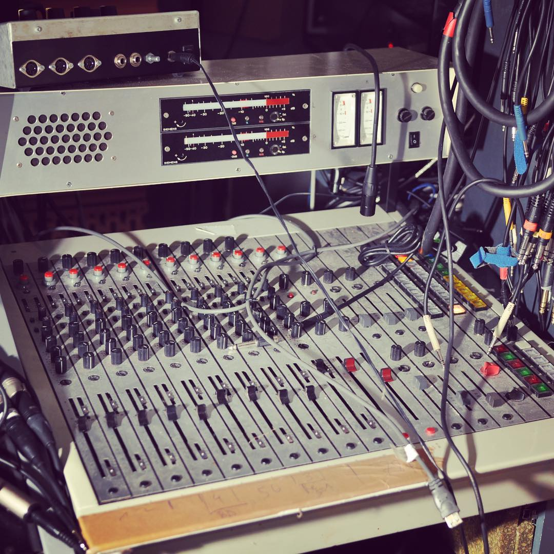 I was mixing at least 2 of my albums on this crazy ass vintage German broadcast desk. I used it mostly as a final stage summing mixer. I think it's a TAB Telefunken T-30 from a 70s TV truck. It's so rare you don't even find anything on Google about it.
